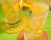 Имбирный напиток с лимоном и мятой.