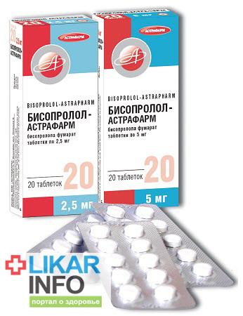 Бисопролол (Бісопролол, Bisoprolol) инструкция по пременению