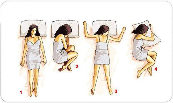 Поза сна влияет на мозг по-разному