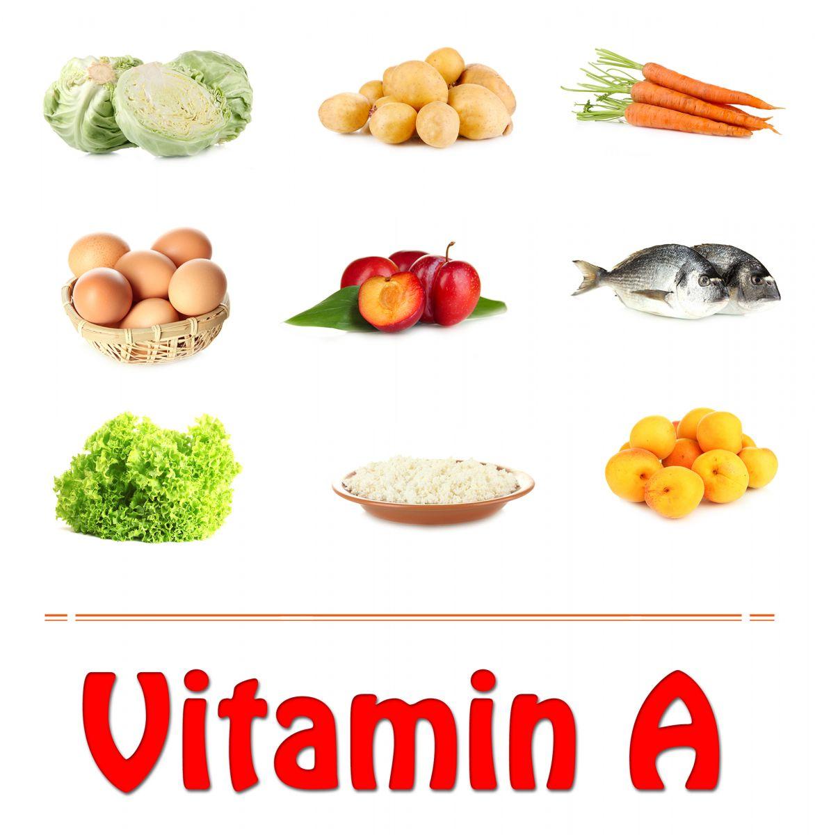 расскажите, продукты в которых много витамина а в картинках самых простых