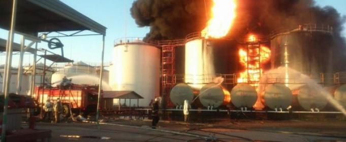 Пожар на нефтебазе: как спастись от токсинов