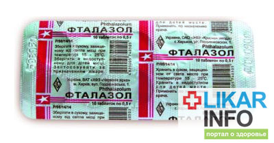 Фталазол от чегоЧасто больные спрашивают: Фталазол от чего.  Препарат относится к противомикробным и...