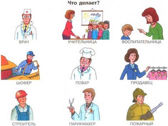 Здоровых и нездоровых профессий