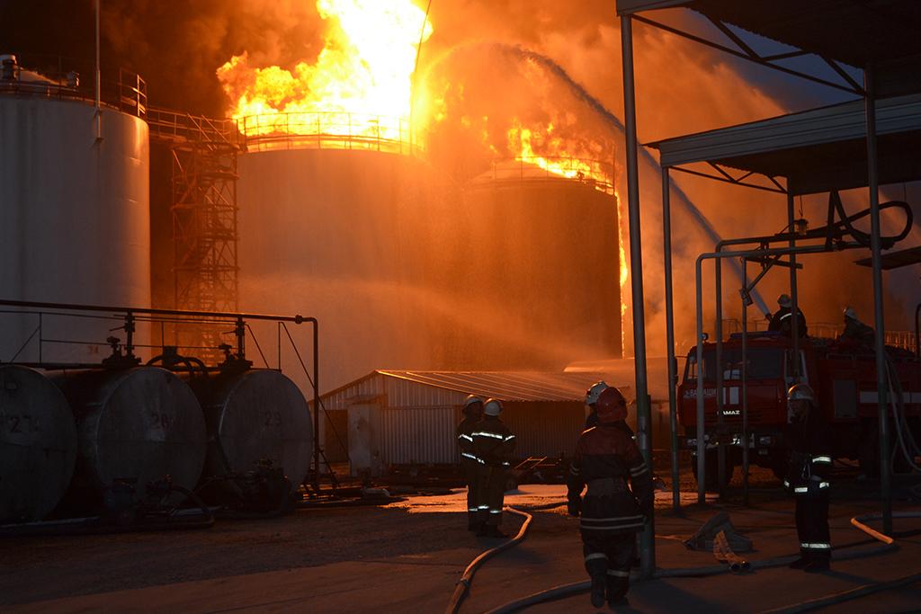 пожар в Глевахе