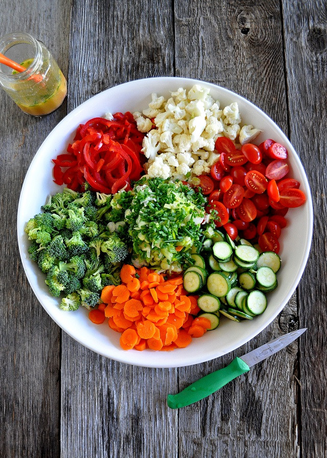 A fresh vegetable salad