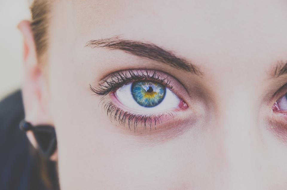 Pair of eyes close up