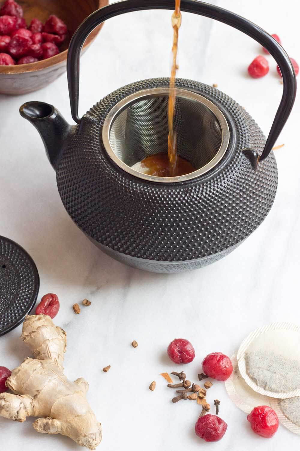 tea with dried cherries