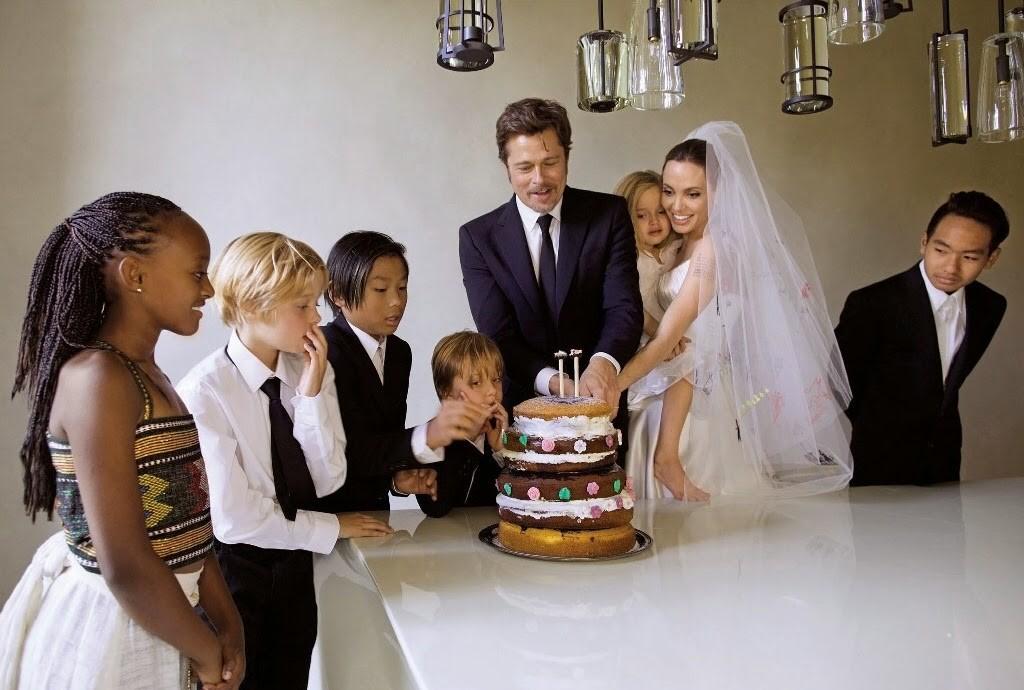 семья Анджелины Джоли и Брэда Питта